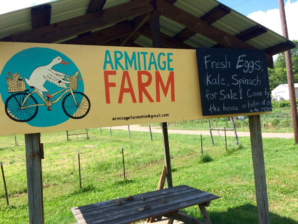 Love this place. It's on the bike path right before a beautiful, shaded stretch starts en route to The Plains. Apparently, they're now selling greens and eggs ... though I'm not confident the eggs would make it back with me.