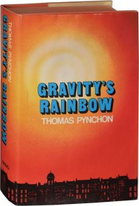 Viking Press First Edition of Gravity's Rainbow, 1973. Jacket design by Marc Getter.