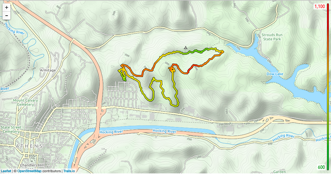 Topo map of my hike