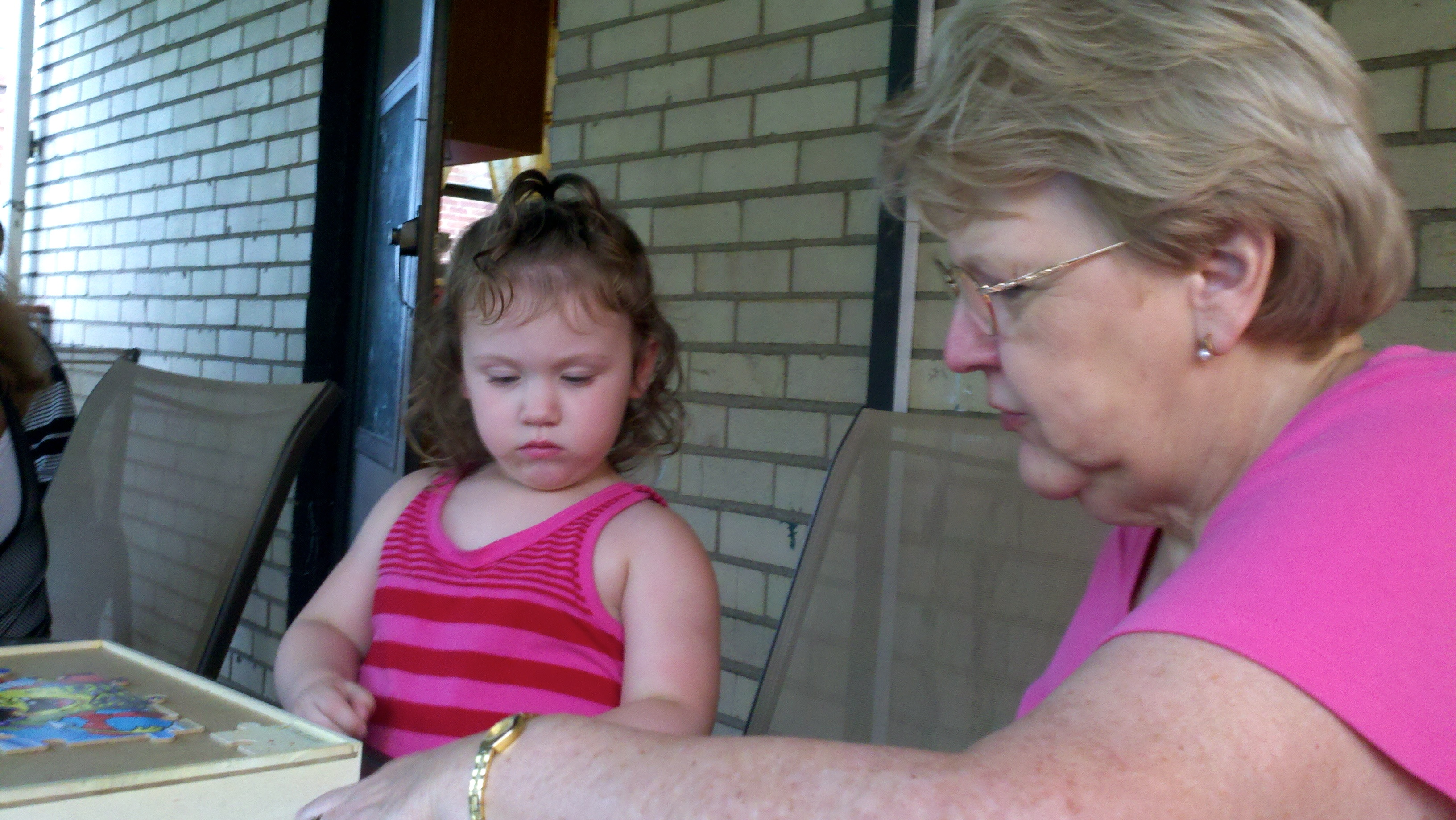 Mom with her great-granddaughter, Mercedes.