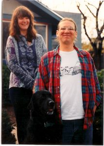Lara, PigPen and me standing proudly in front of our house in the student ghetto circa 1990.